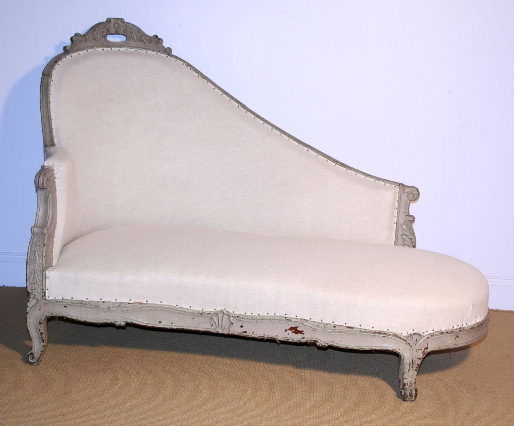 French 19th century napoleon iii style chaise lounge at for Chaises longues tressees