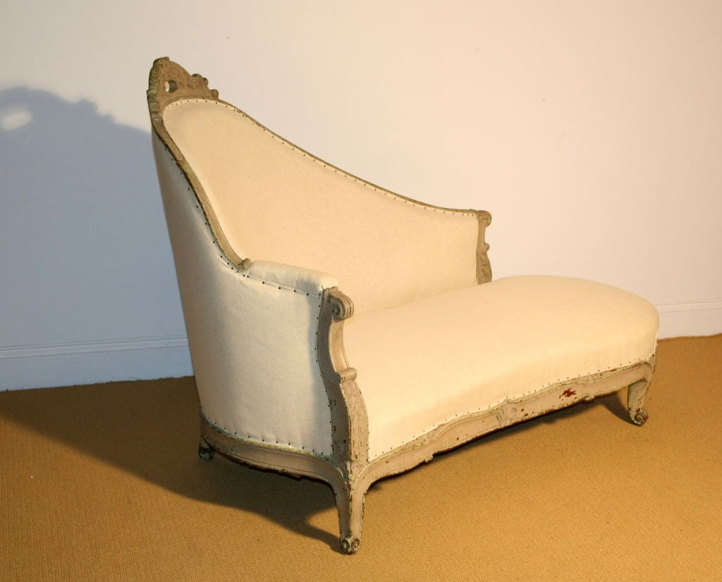 French 19th century napoleon iii style chaise lounge at for Century furniture chaise lounge