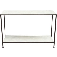 Custom-Made Marcelo Console Table with Lagos Azul Stone
