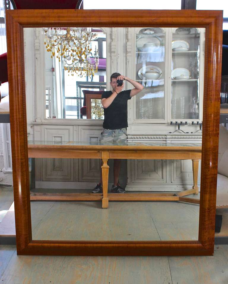 Exceptionally Large Chestnut Veneer Mirror For Sale At 1stdibs