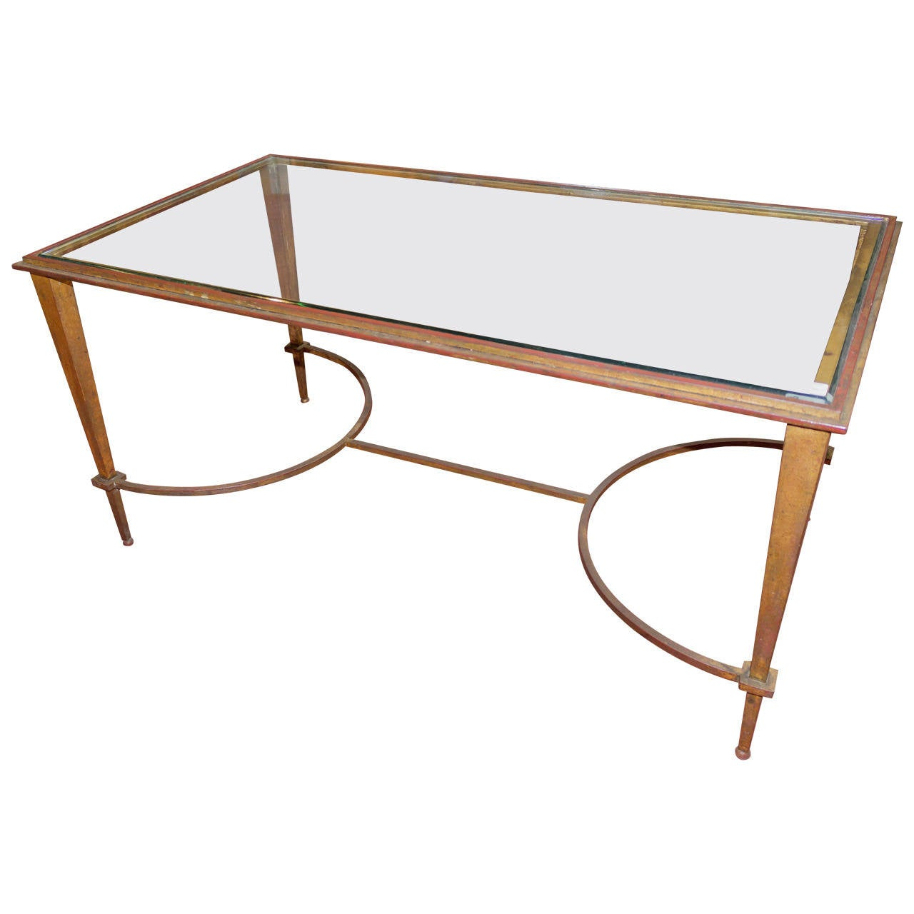 French 1940s Coffee Table By Maison Ramsay At 1stdibs