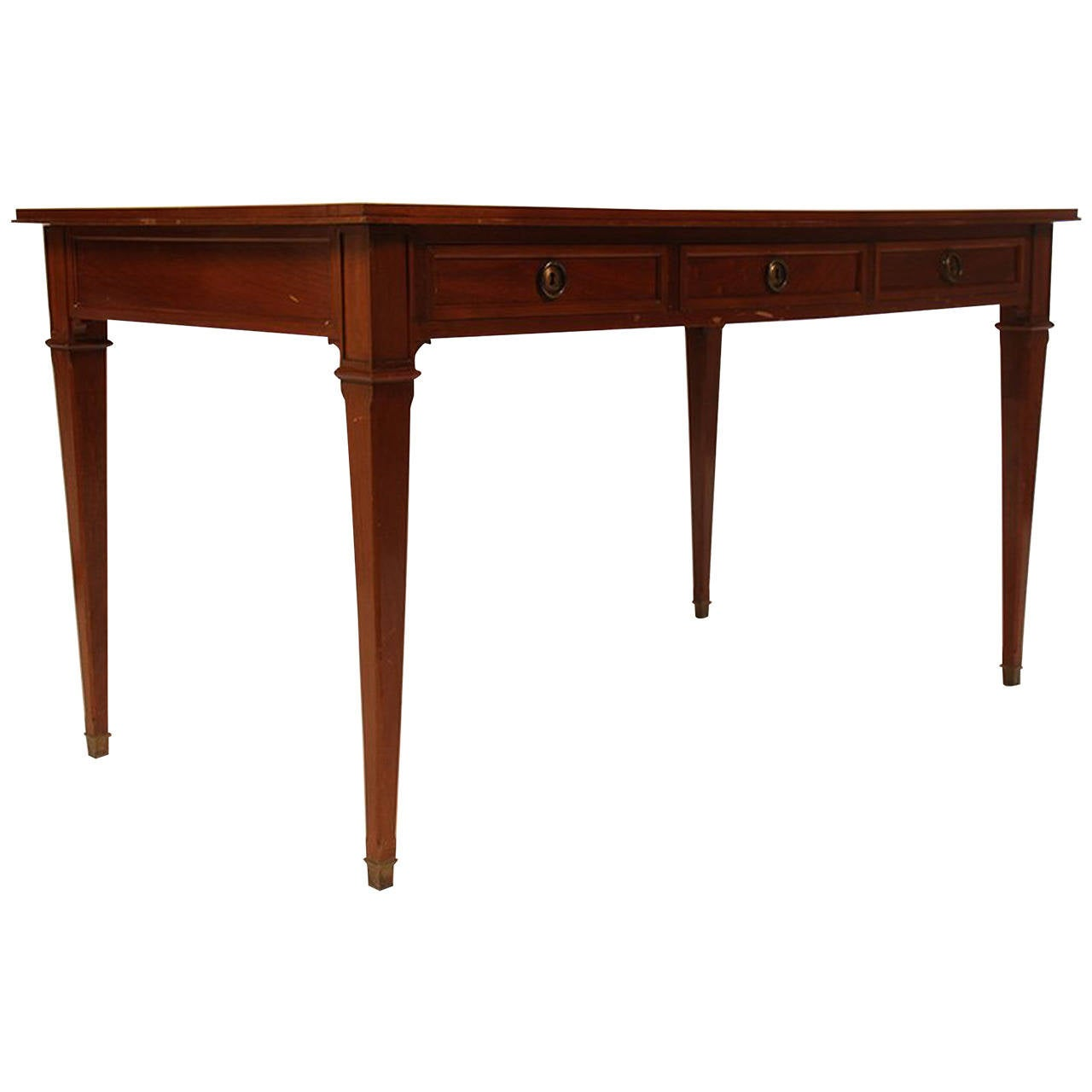 French Neoclassical Style 1950 39 S Mahogany Desk For Sale At 1stdibs