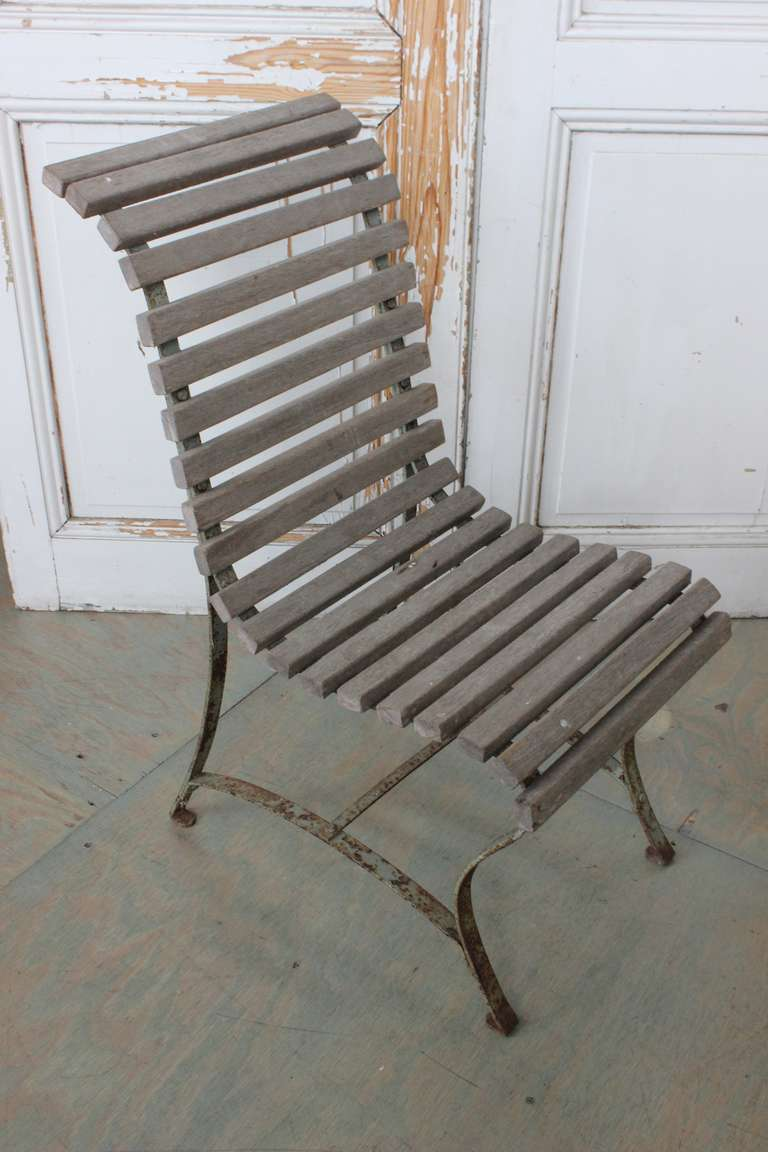 French Garden Side Chair In Fair Condition For Sale In Long Island City, NY