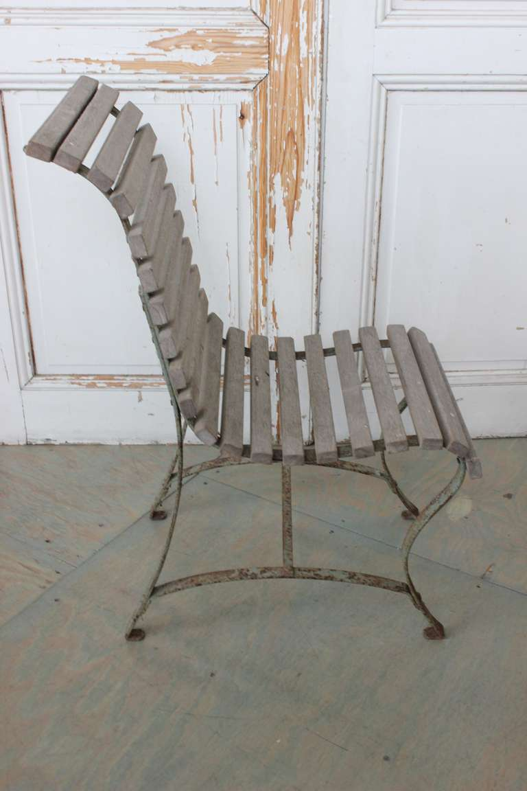 19th Century French Garden Side Chair For Sale