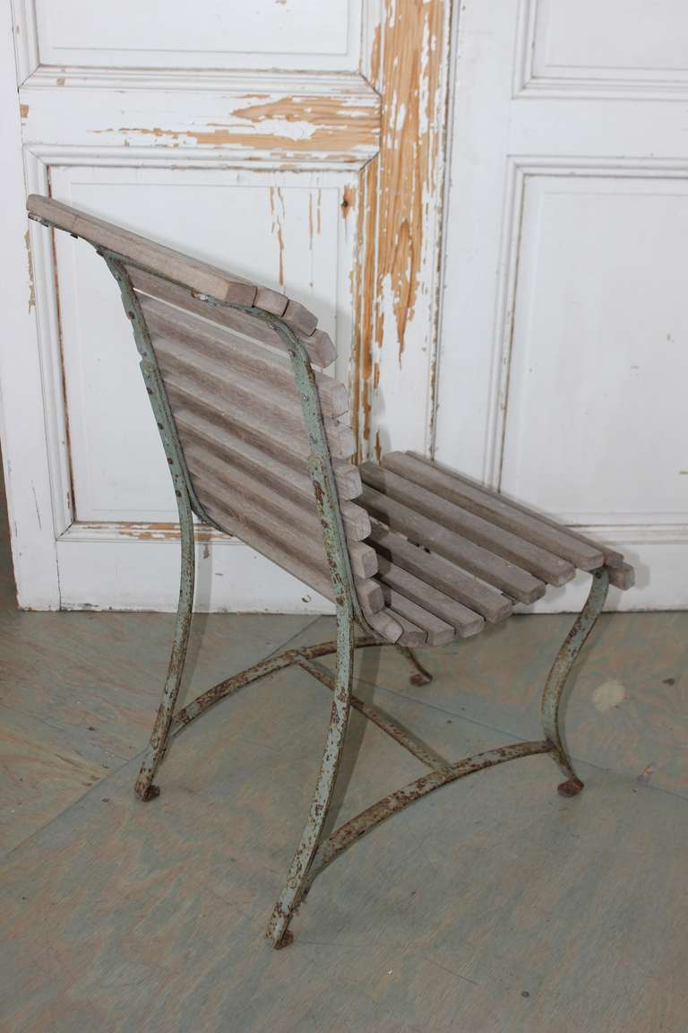 Wood French Garden Side Chair For Sale