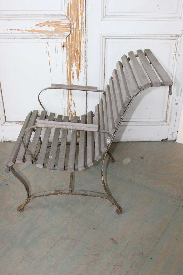 Iron French Garden Armchair For Sale