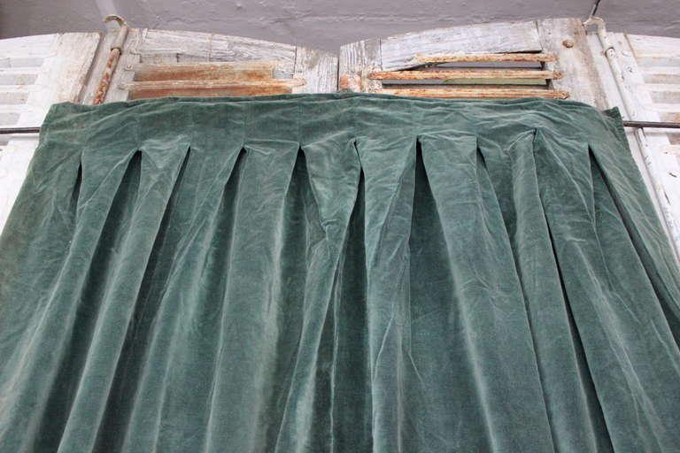 Single Sage Green Drape Panel