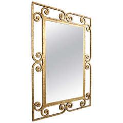 Spanish Gilt Metal Mirror