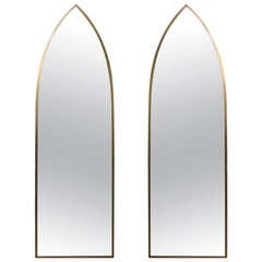 Pair of Mid-Century Modern Arched Mirrors