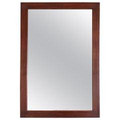 French 19th Century Fluted Mahogany Framed Mirror
