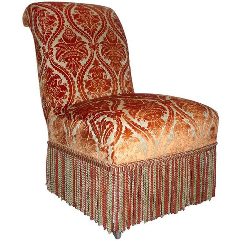 French 19th Century Slipper Chair 1
