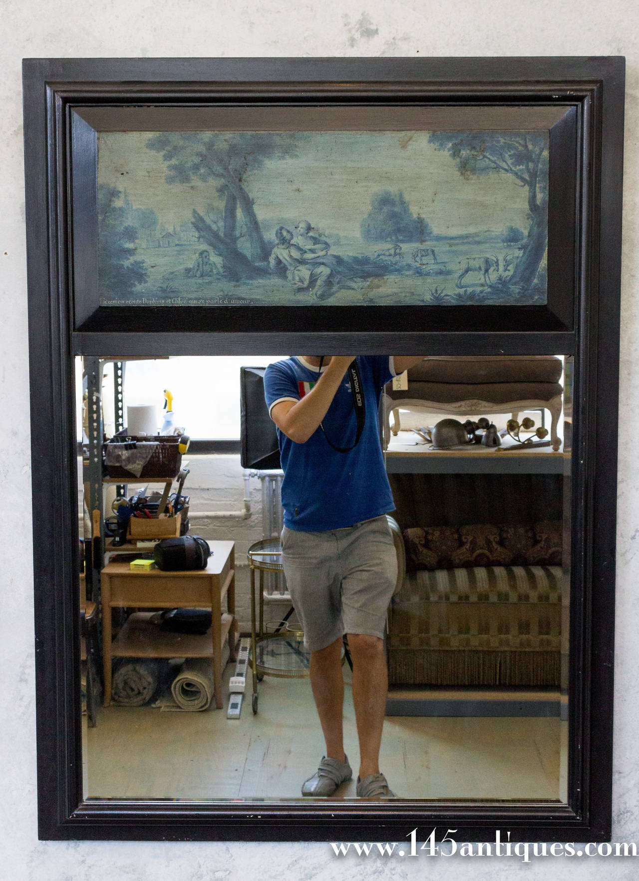 Pair of French 19th Century Trumeau Mirrors For Sale 6