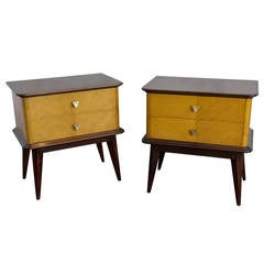 Pair of French 1950s Night Tables