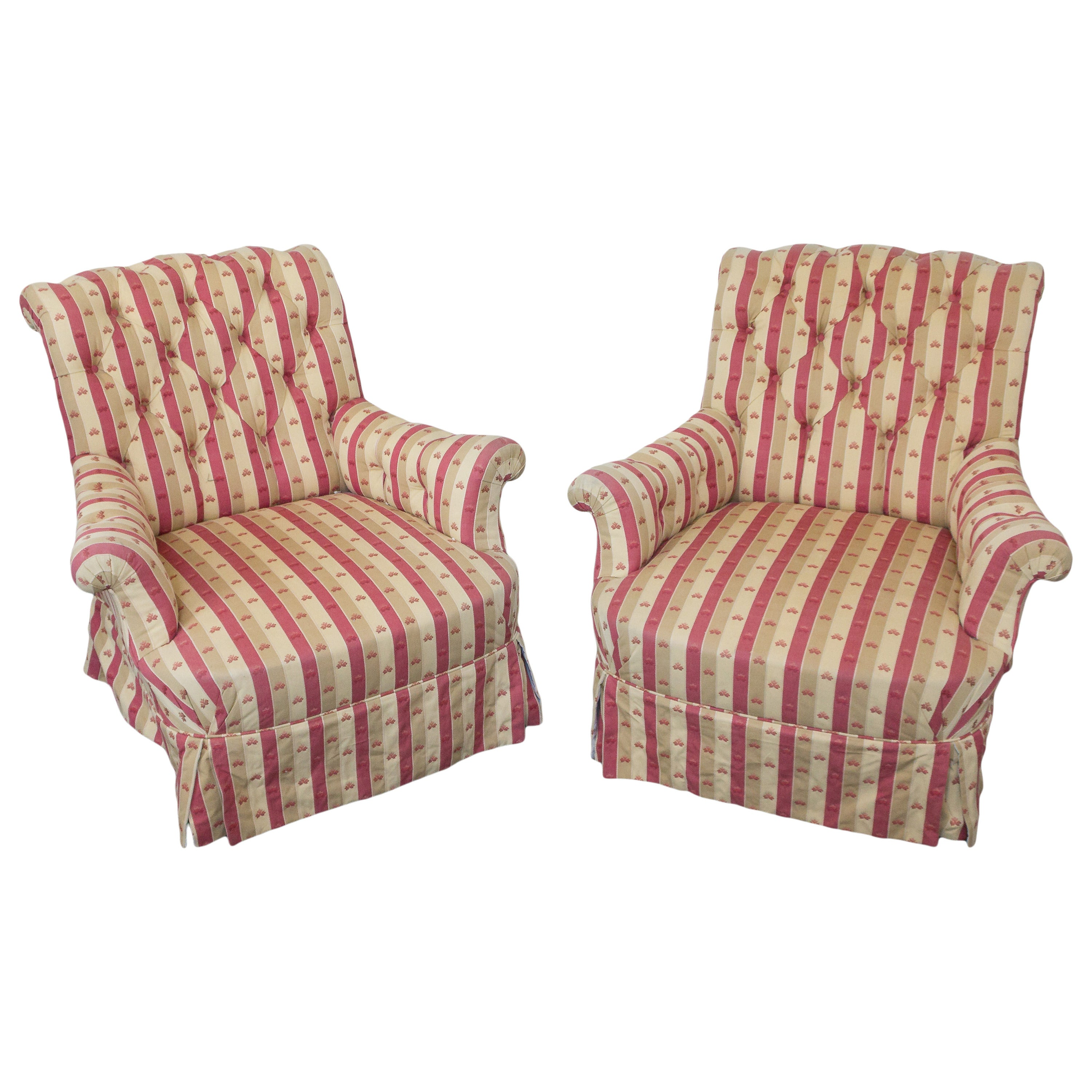 Pair of Large 19th Century French Armchairs