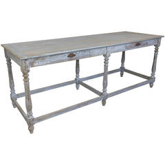 Painted French Draper's Table