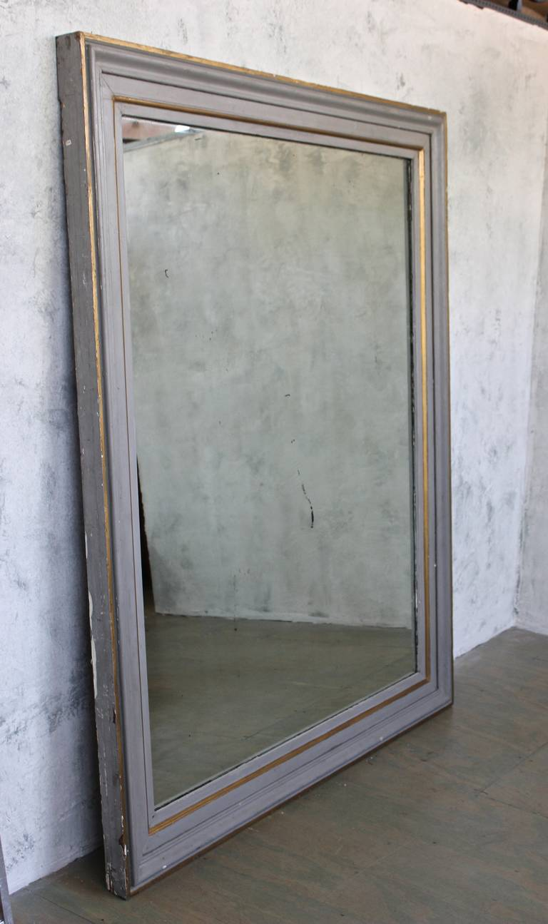 Very large french 19th c mirror in a carved wood frame Large wooden mirrors for sale