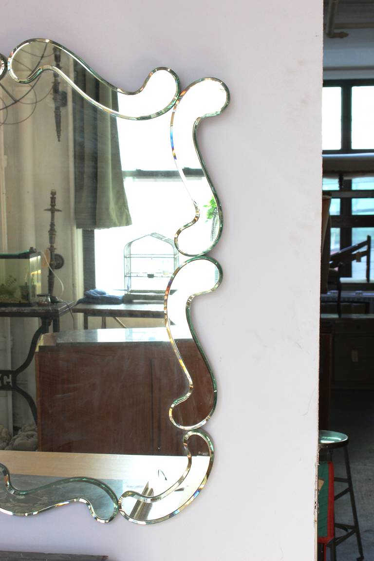 Large 1950 39 s venetian style wall mirror for sale at 1stdibs for Huge wall mirrors for sale