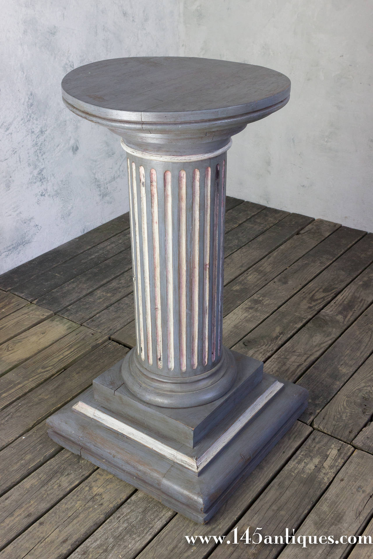 French Painted Pedestal Column For Sale At 1stdibs