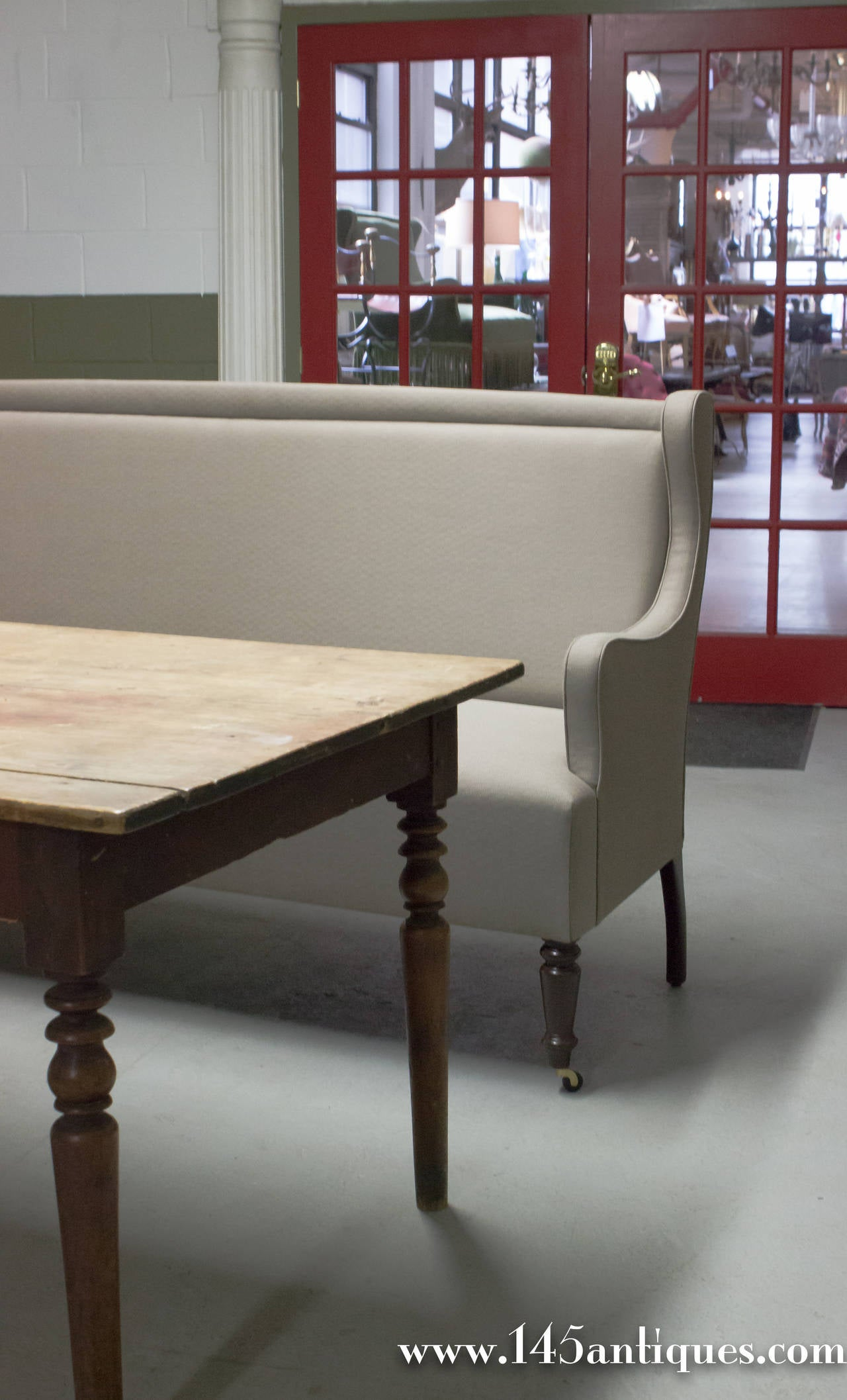 Custom made banquette for dining for sale at 1stdibs