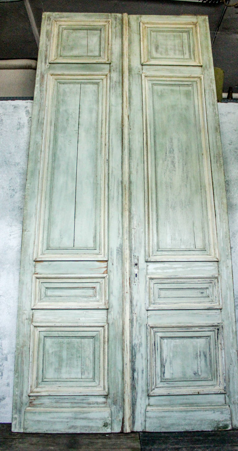Set of three 19th century large entry doors for sale at - Oversized exterior doors for sale ...