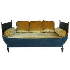 French Neo Classical Style Sleigh Bed