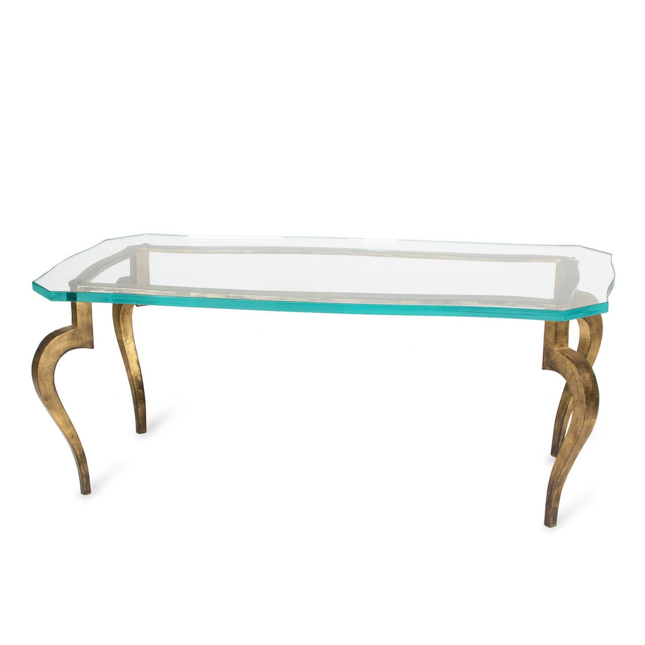 Dore Bronze Glass Top Coffee Table By Ramsay French Late 1940s For Sale At 1stdibs