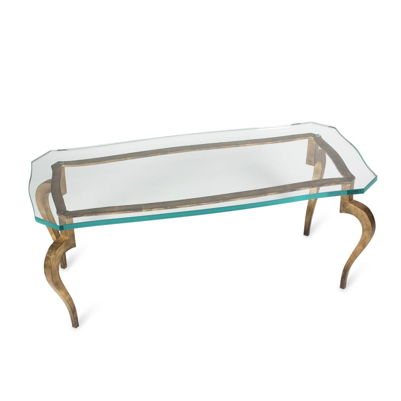 Dore Bronze Glass Top Coffee Table By Ramsay French Late 1940s At 1stdibs