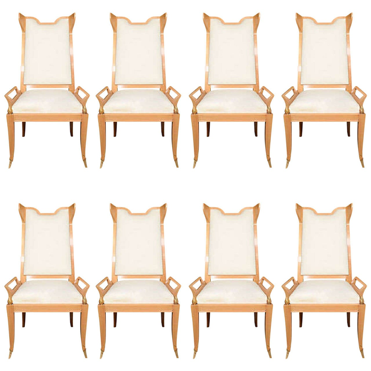 John Widdicomb Furniture For Sale ... Eight Albano Dining Chairs, American, circa 1950 For Sale at 1stdibs
