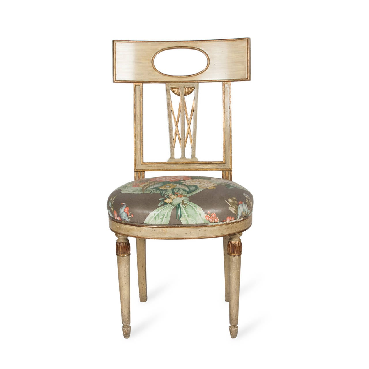 Single Neoclassical Style Painted Wood Chair French 1920s At 1stdibs. Full resolution‎  picture, nominally Width 1280 Height 1280 pixels, picture with #8E6A3D.