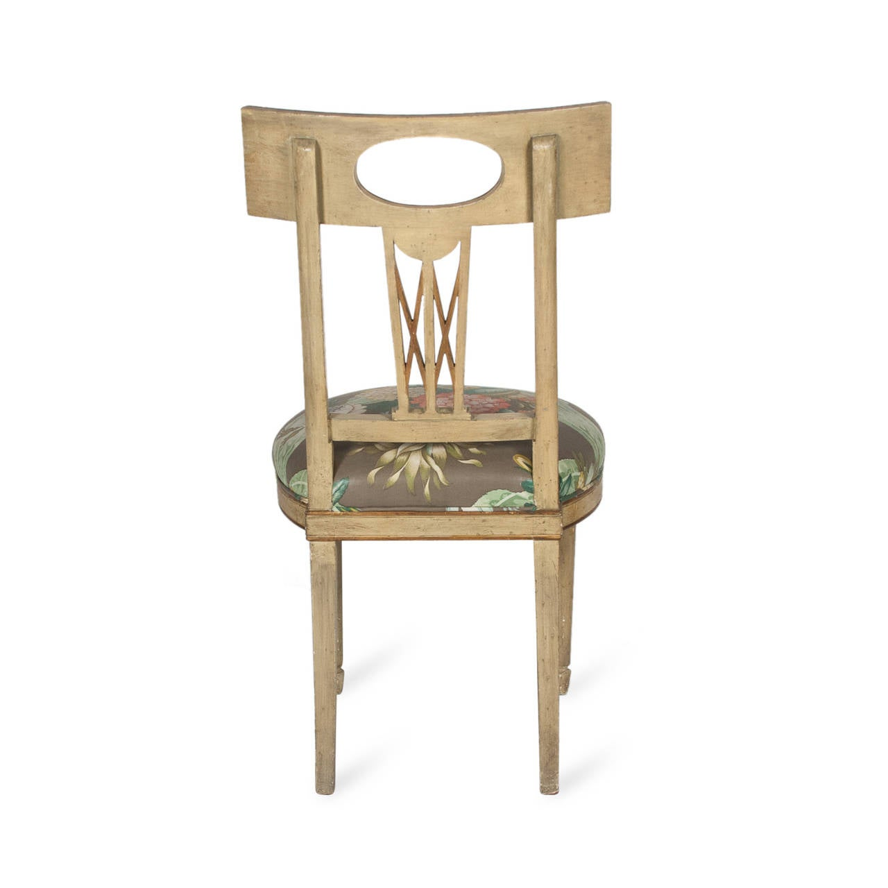 Single Neoclassical Style Painted Wood Chair French 1920s At 1stdibs. Full resolution‎  picture, nominally Width 1280 Height 1280 pixels, picture with #8C6F3F.