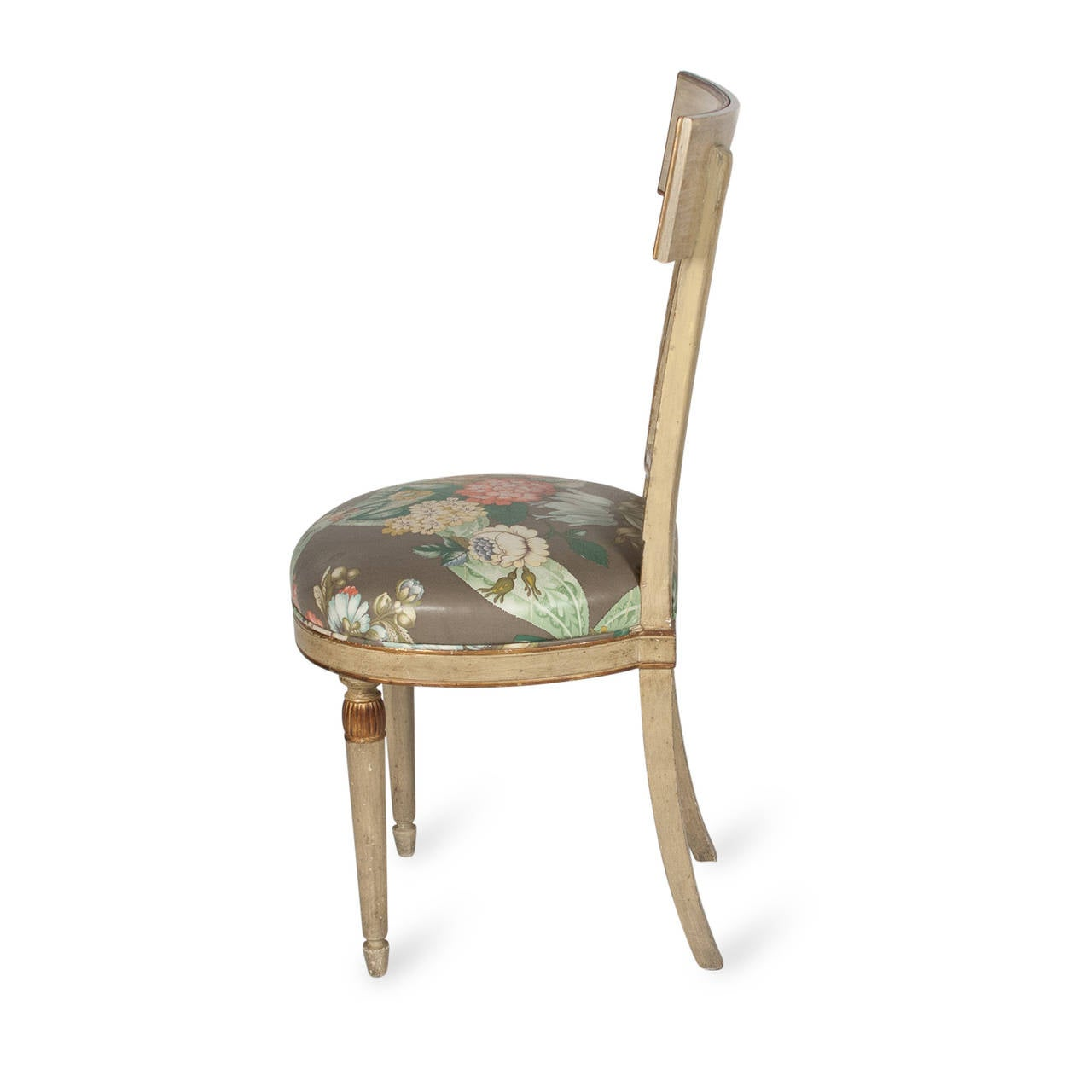 Single Neoclassical Style Painted Wood Chair French 1920s At 1stdibs. Full resolution‎  picture, nominally Width 1280 Height 1280 pixels, picture with #8D643E.
