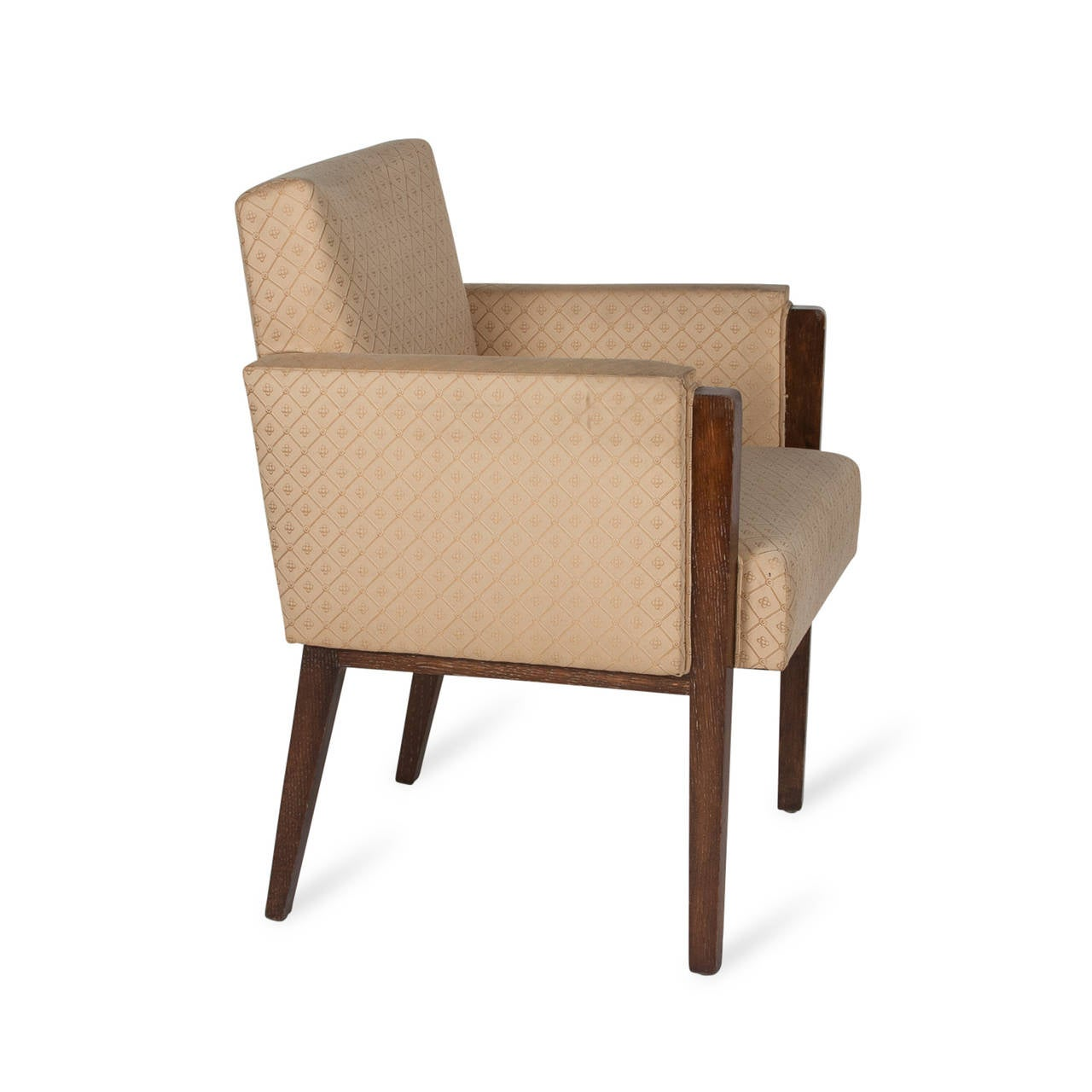 Mahogany Armchair In The Style Of Jules Leleu French 1930s At 1stdibs