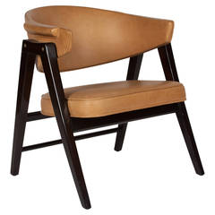 Single Compass-Frame Armchair by Edward Wormley, American, 1950s