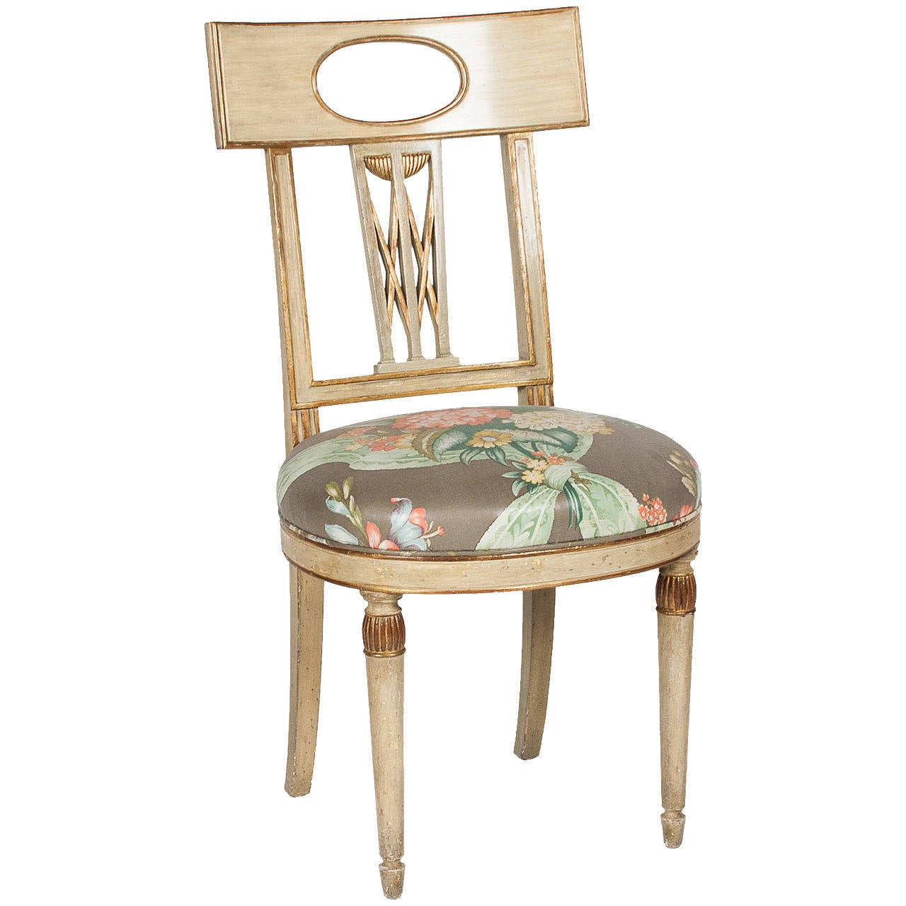 Single Neoclassical Style Painted Wood Chair French 1920s At 1stdibs. Full resolution‎  picture, nominally Width 1280 Height 1280 pixels, picture with #916A3A.