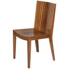Single Zebrawood Side Chair by Karl Springer
