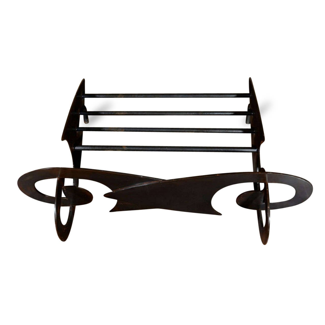 Elaborate Curved Steel French Fireplace Grate For Sale At 1stdibs
