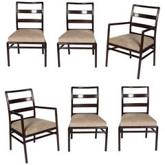 Set of Six Ladder Back Dining Chairs by Robsjohn-Gibbings, American, 1950s