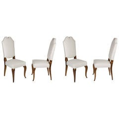 Set of Four Side Chairs by Maison Jansen, French, 1940s