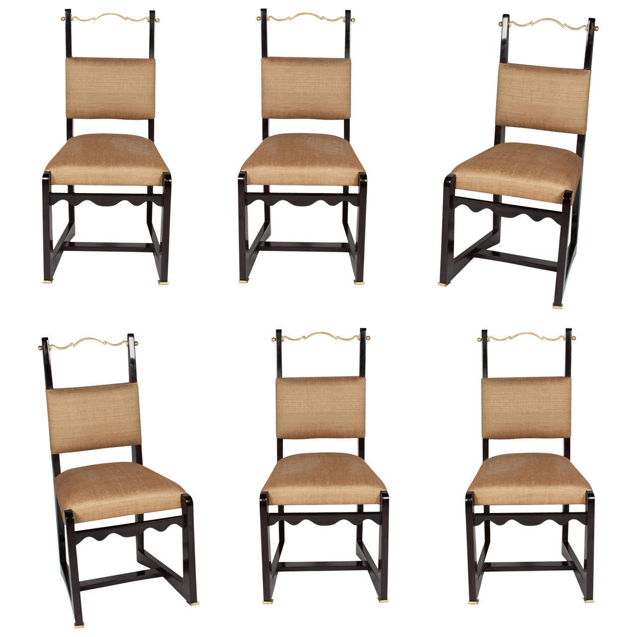 Set of six mahogany 1950s side chairs at 1stdibs for Mahogany dining room furniture