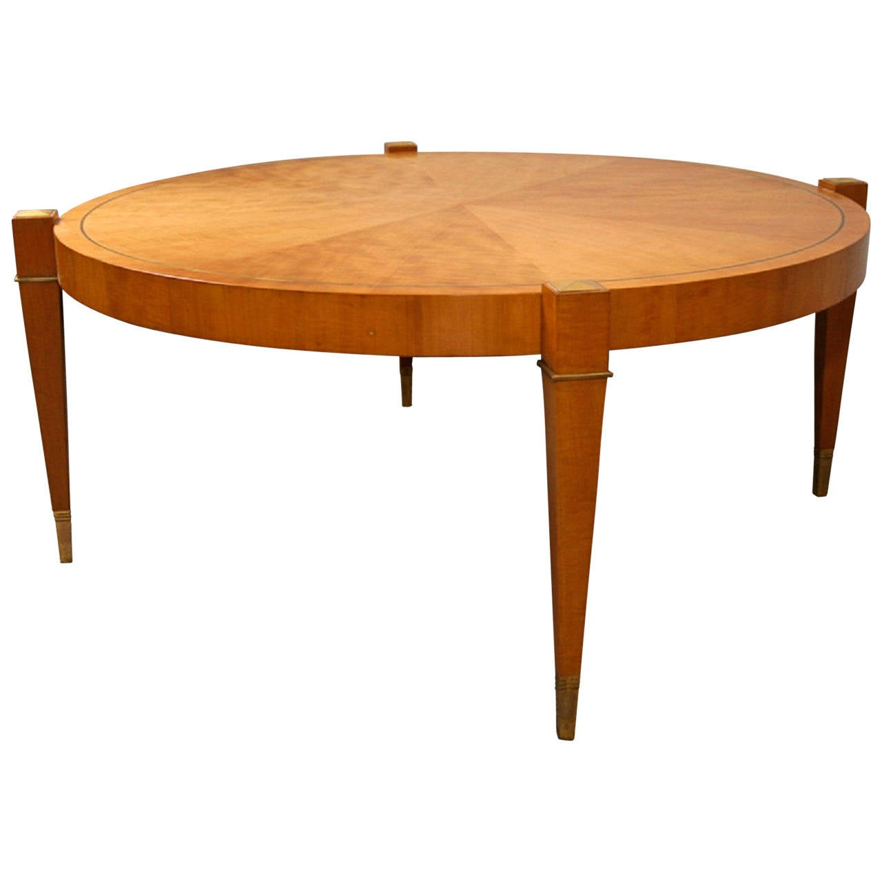 Custom made low coffee table by albano american 1950s at 1stdibs Handcrafted coffee table