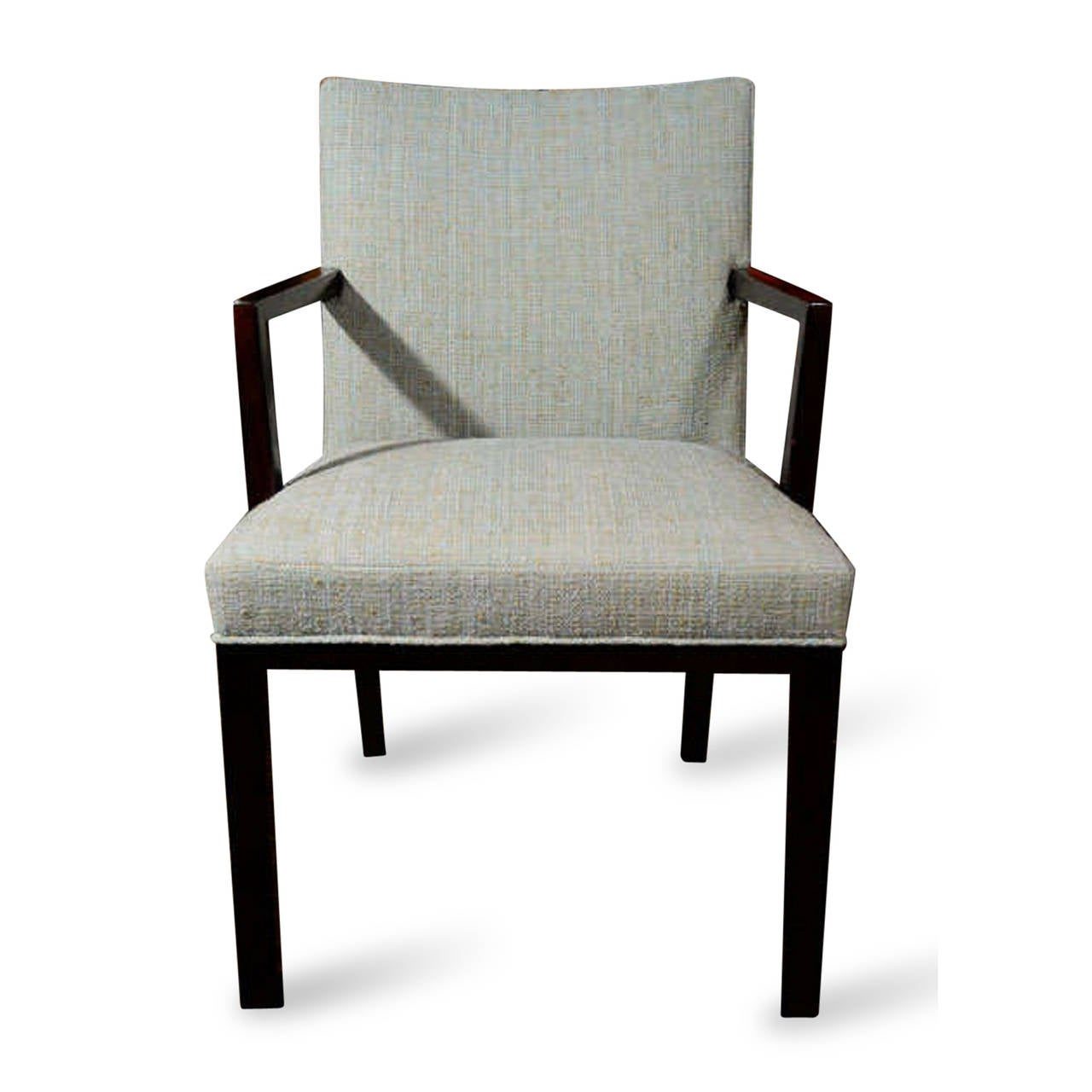 Upholstered dining chairs by edward wormley for dunbar for Upholstered dining chairs for sale