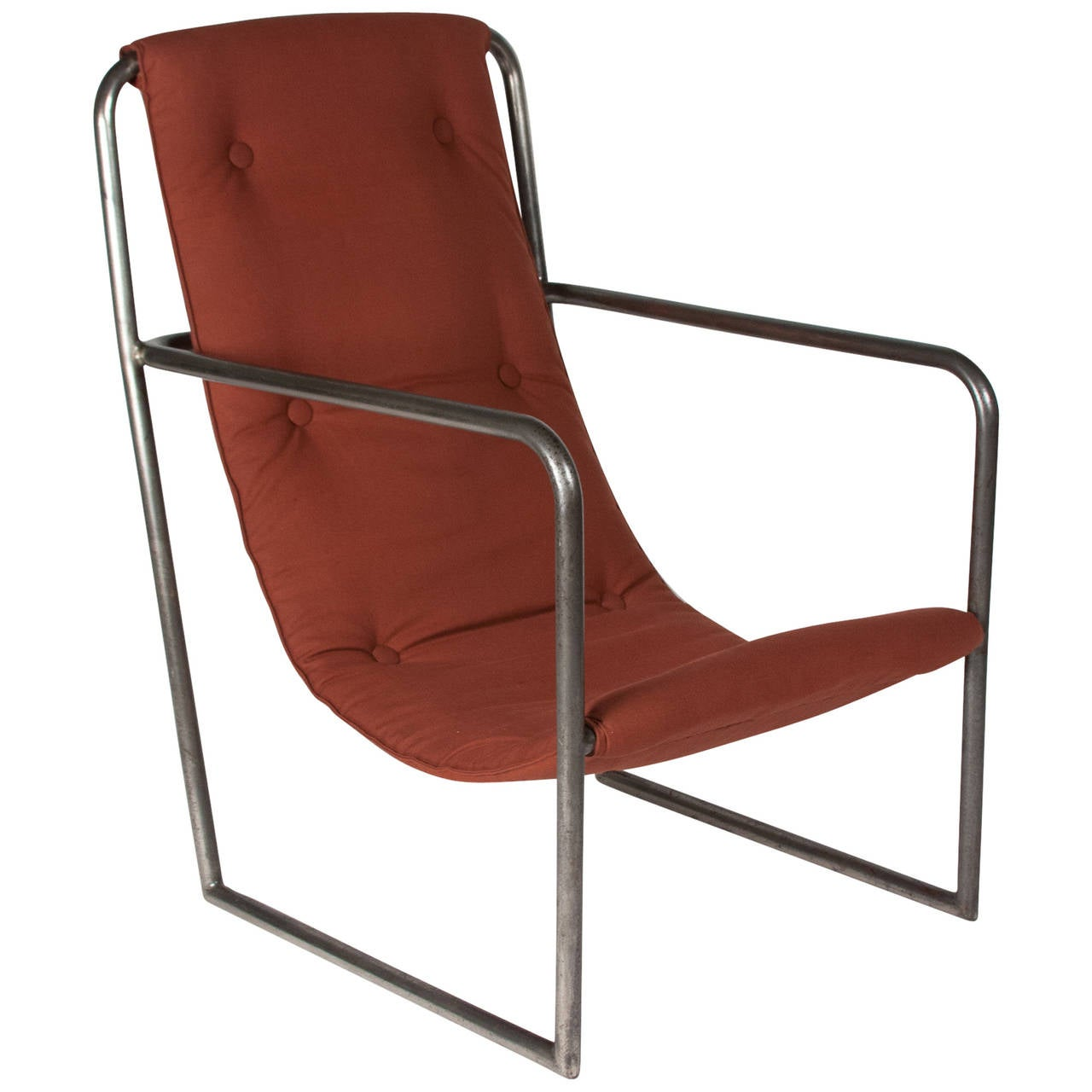 Louis sognot style tubular metal chair french 1920s for sale at