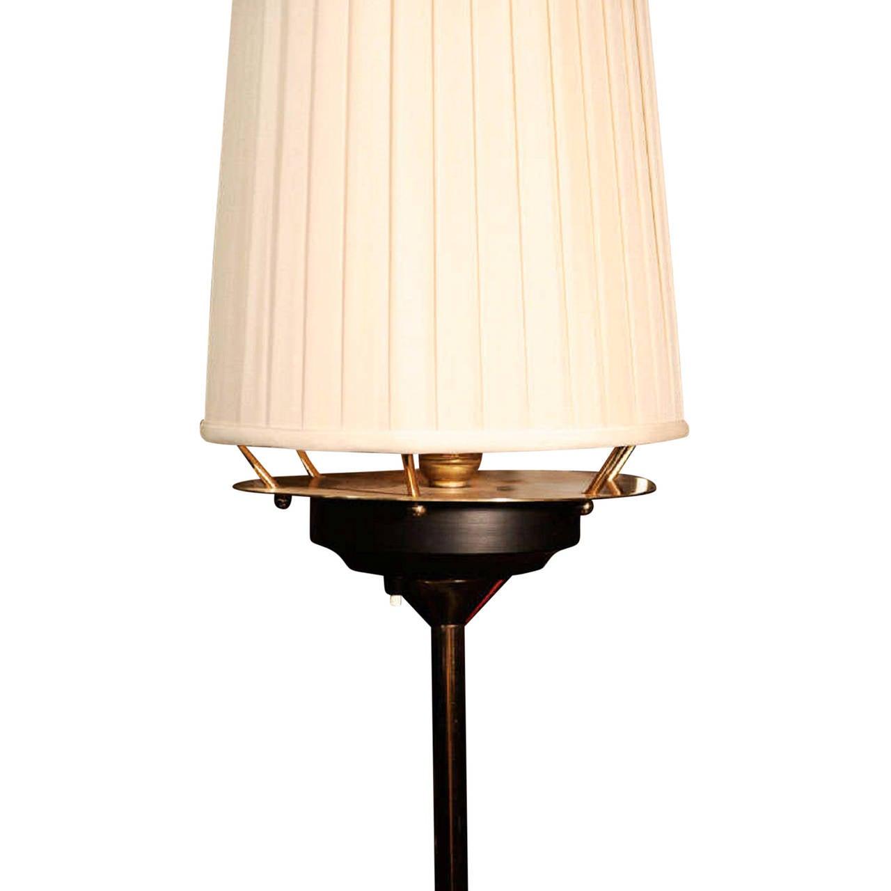 bronze floor lamp with flower base german 1950s for sale. Black Bedroom Furniture Sets. Home Design Ideas
