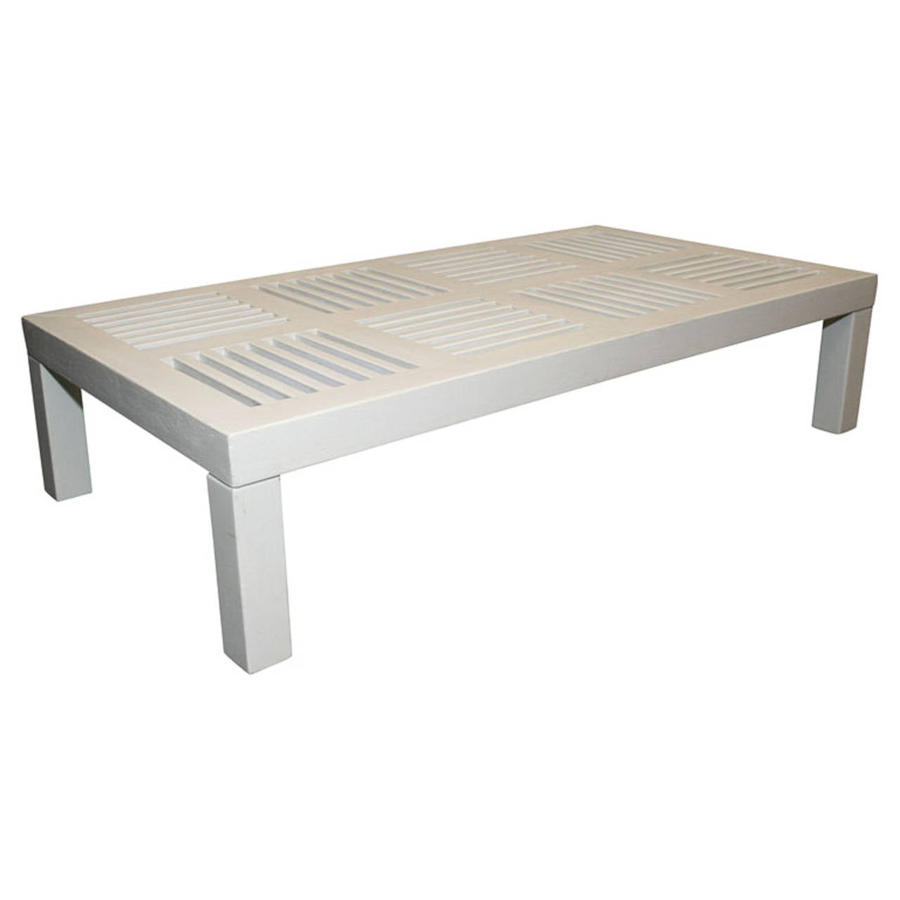 White Painted Rectangular Coffee Table Attrib To Robert Mallet Stevens At 1stdibs