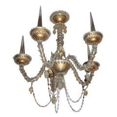 Five-Arm Chandelier by Arbus for Veronese, Italian, 1940s