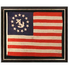 13 Star Private Yacht Flag with Hand-Sewn Stars Made by Annin in New York City