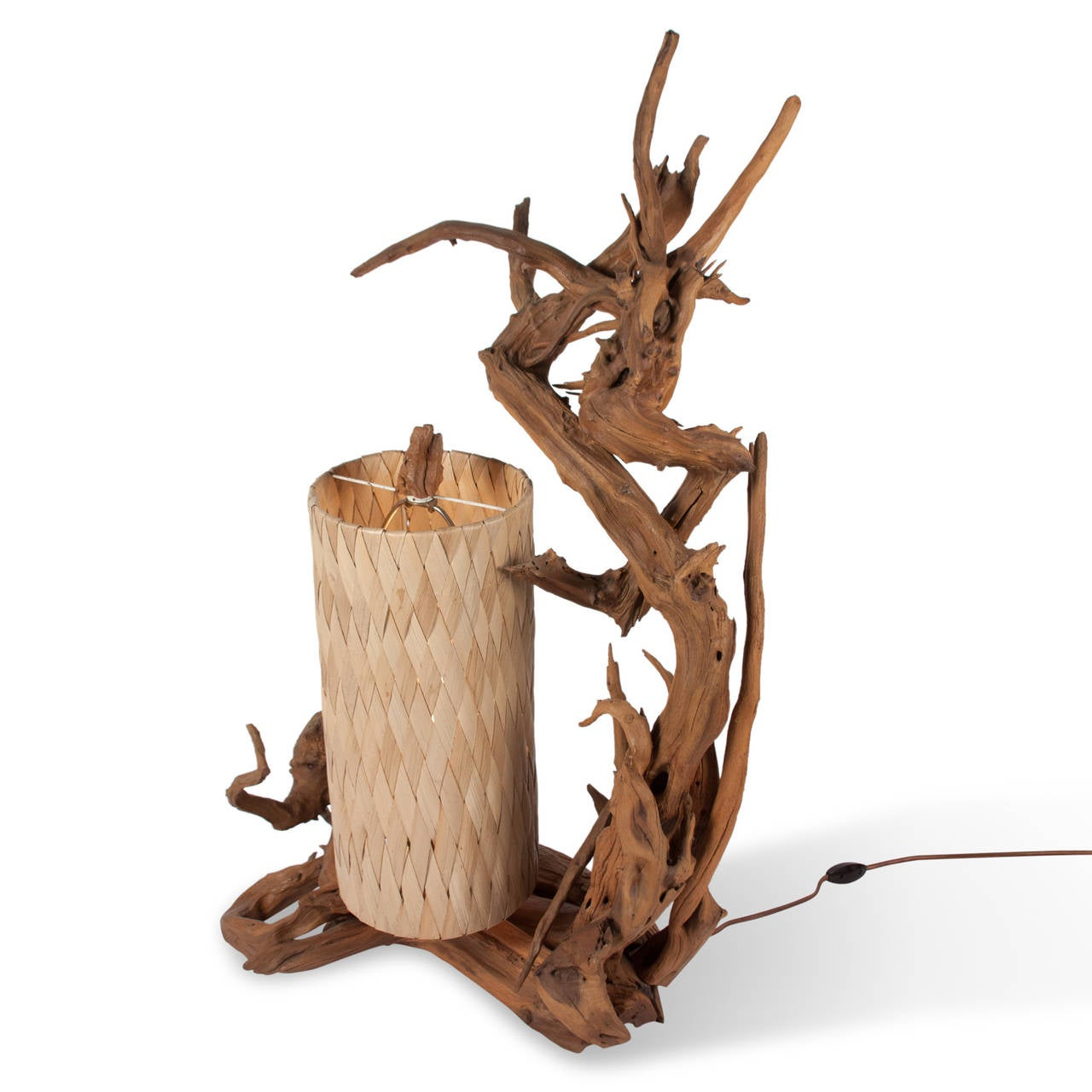 this 1950s elaborate driftwood table lamp is no longer available. Black Bedroom Furniture Sets. Home Design Ideas