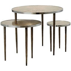 """""""Astres"""" Set of Three Nesting Tables by Franck Chartrain"""
