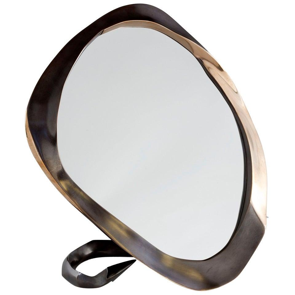 "Aldus, ""Devil,"" Gilt Bronze Table Mirror, Italy, 2013"