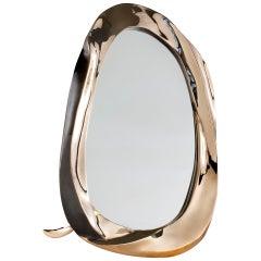 "Aldus, ""Angel,"" Gilt Bronze Table Mirror, Italy, 2013"